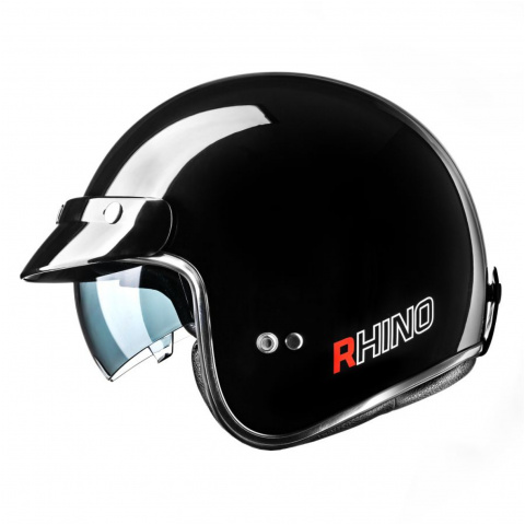 RHINO KASK JET CITY BLACK GLOSS S