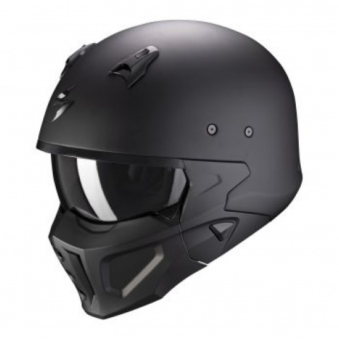 SCORPION KASK COVERT-X SOLID MATT BLACK XL